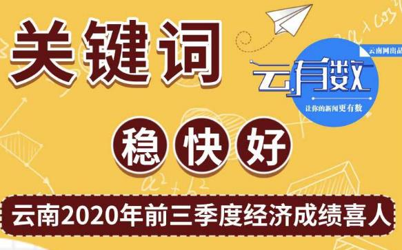 【云有数】关键词:稳 快 好 云南2020