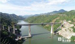 国内铁路最大跨度 中老铁路阿墨江双线特大桥合龙